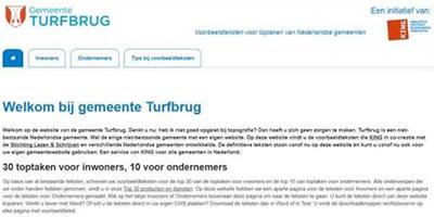 Gemeente Turfbrug geschikt voor laaggeletterden